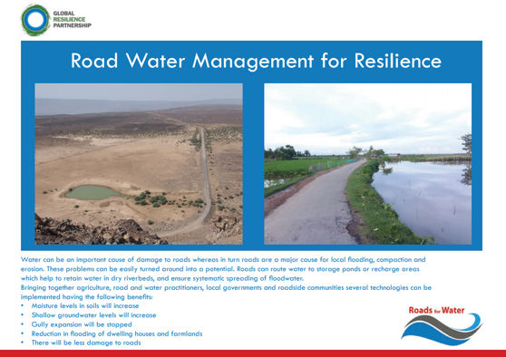 Frontpage manual: Best Practices Road Water Management for Resiliences