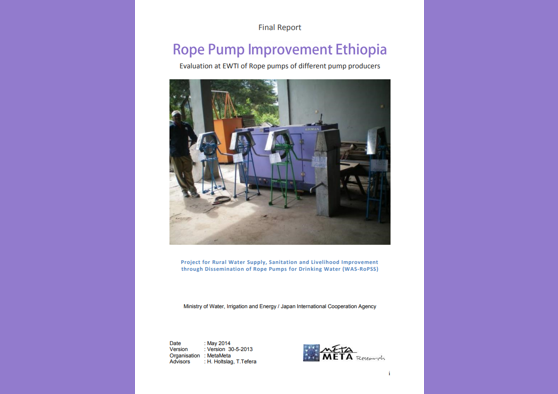 Frontpage manual: Finetuning Rope Pumps