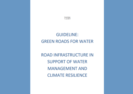 Frontpage manual: Guidelines Green Roads for Water
