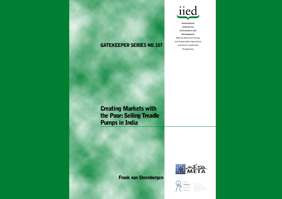 Frontpage manual: Creating Markets with the Poor